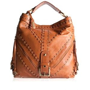 Isabella Fiore Studded Metal of Honor Carina HOBO